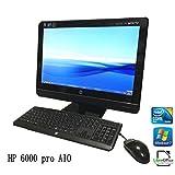 【中古一体型パソコン】HP compaq 6000 pro AIO C2D 2.93GHz 2GB 500GB ROM 21.5インチ windows 7 pro 32bit Libre office