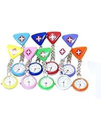 ノーブランド品 腕時計 クロス ナースウォッチ ナース時計 逆さ時計 懐中時計 看護師 クリップ クロスタイプ レディース