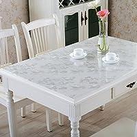 IVERNA テーブルクロス PVC製 テーブルマット デスクマット テーブルクロス 長方形 防水 撥水 耐久 汚れつきにくい