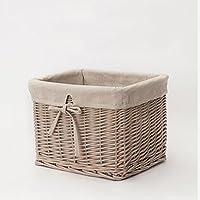 ストレージバスケットスナックDebris Bin Clothes HamperおもちゃボックスナチュラルLiuラタン手編み寝室リビングルームTG L 785-317