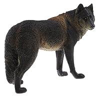 Baoblaze 教育玩具 PVC動物モデル 小道具 黒オオカミ ギフト 家庭 置物