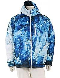 (カナダグース) CANADA GOOSE Lodge Hoody Glacier Print ダウンジャケット 氷河 プリント ナイロン 水色 青 5055MPT 中古