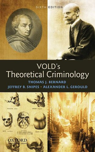 Download Vold's Theoretical Criminology 0195386418