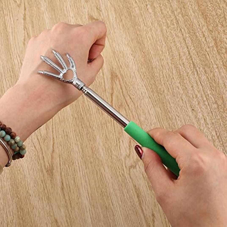 トレイ論文化石Compact Telescopic Claw Stainless Steel Massager Back Scratcher 22-58cm Adjustable Back Scratching Massage Hand...