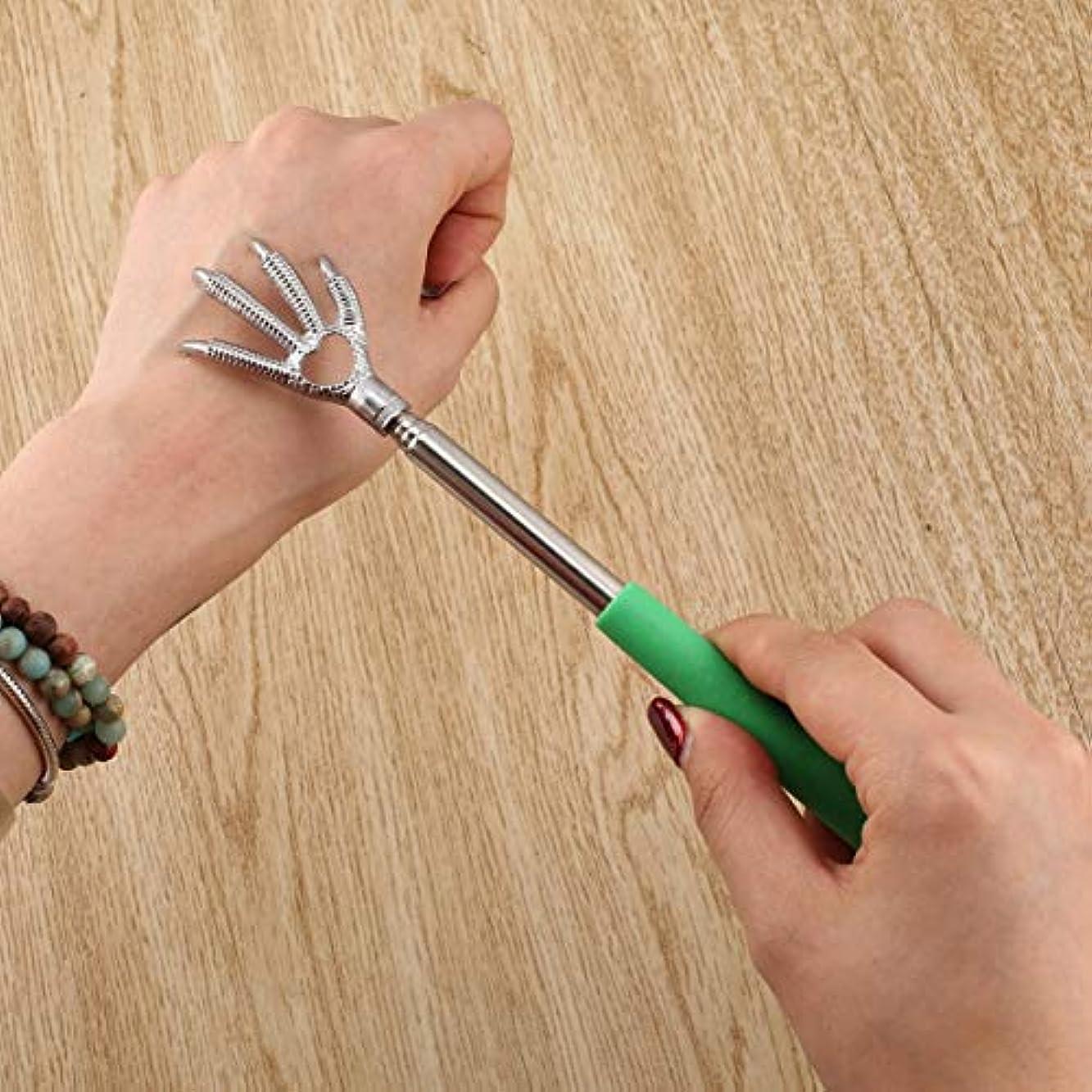 医療過誤センチメートル正午Compact Telescopic Claw Stainless Steel Massager Back Scratcher 22-58cm Adjustable Back Scratching Massage Hand...