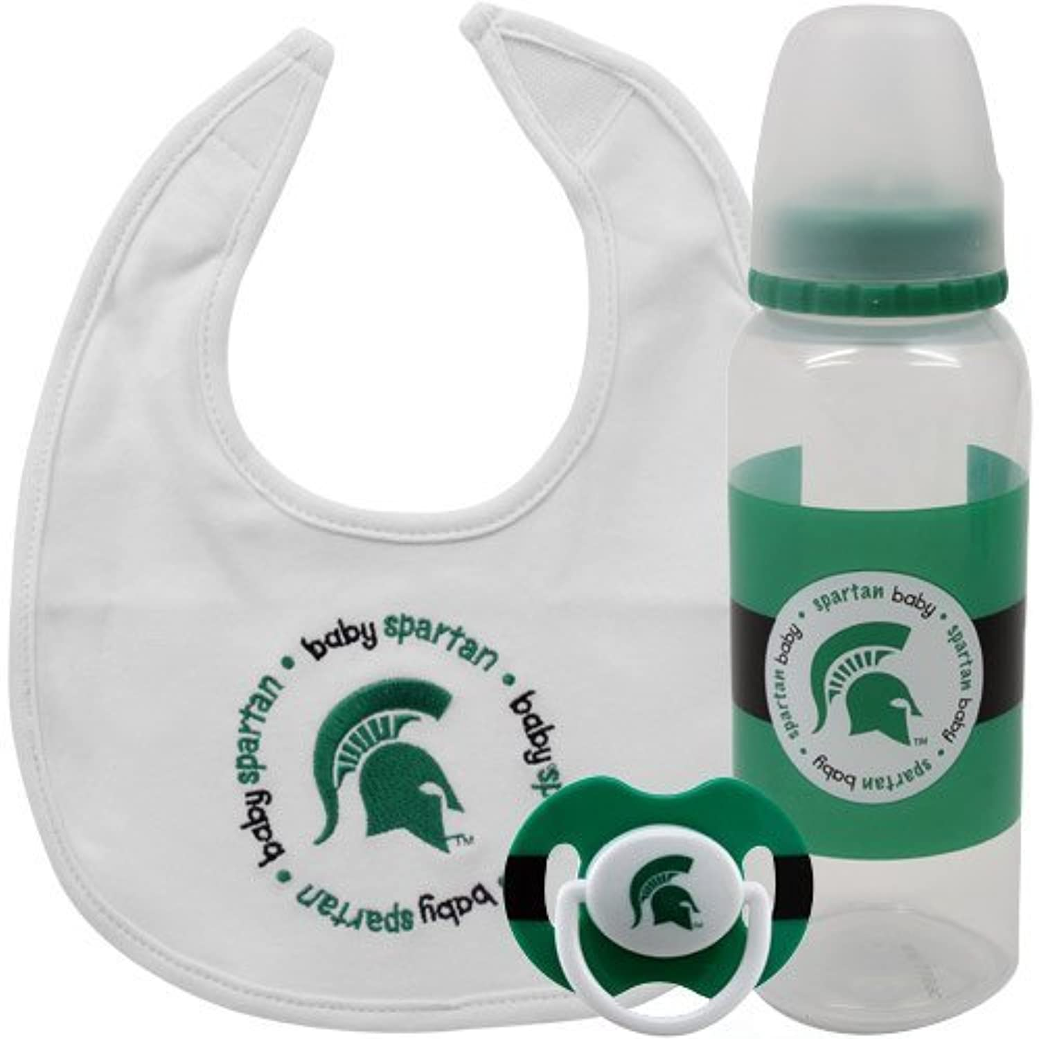 NCAA Michigan State Spartans Baby Gift Set by Baby Fanatic [並行輸入品]