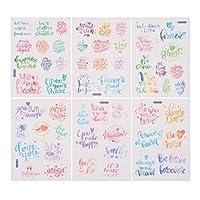 NUOLUX シール 手帳シール 和紙ステッカー DIY 手作り 可愛い ノートシール 6枚セット 手帳 日記 家計簿用