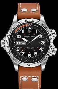 スポーティな存在感を放つアビエーションウォッチ★HAMILTON(ハミルトン)KHAKI X-Wind(カーキX-ウインド)デイデイト 腕時計(H77755533/正規輸入品)