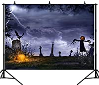 GooEoo 7×5FT(210×150CM)ハロウィーンパーティーのテーマカスタマイズされたシームレスなビニール写真の背景写真の背景スタジオプロップPGT145A