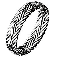Aooaz 記念日のリング ユニセックス シルバー製 編み 指輪 フリーサイズ リング サイズ18
