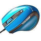 サンワサプライ 有線マウス ブルーLED 5ボタン ブルー MA-118HBL
