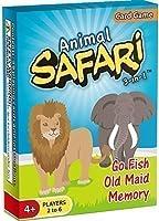 [アリゾナゲーム]Arizona GameCo Animal Safari 3in1: GO FISH, Old Maid, Memory [HOT NEW RELEASE] 001 [並行輸入品]