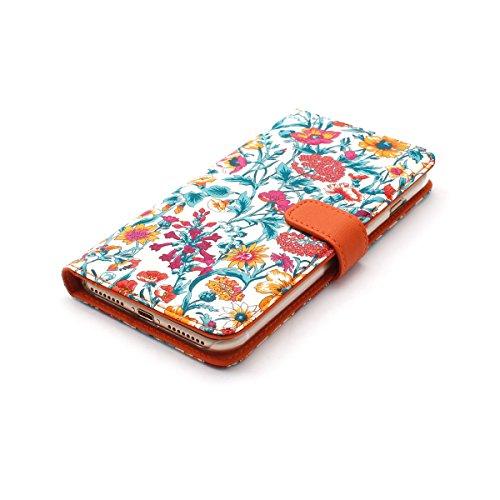 【日本正規代理店品】ZENUS iPhone7 Plus ケース Liberty Diary オレンジ 手帳型 アイフォン カバー Z44647i7P