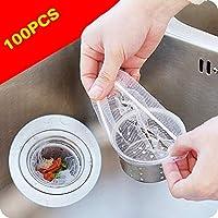 Rateim 便利な水切りフィルター ゴミ袋 キッチン シンク ゴミ メッシュバッグ バー ストレーナー 100PCS SYJB044103_1*