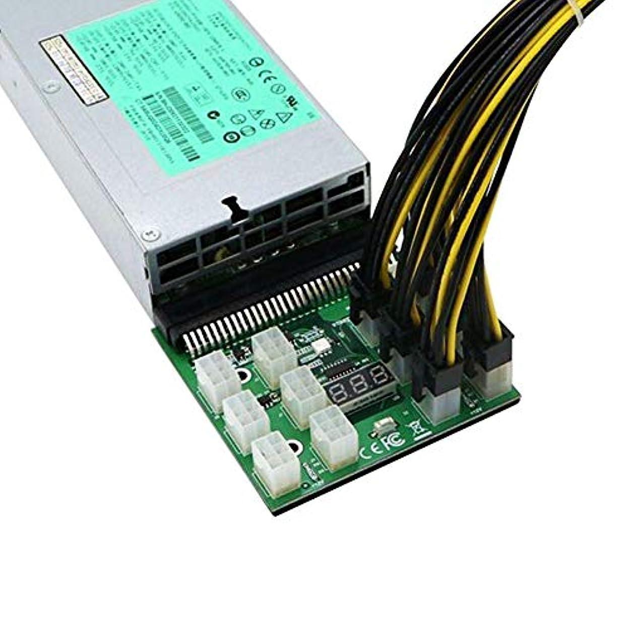 成果シーボードドライバPSU GPU 1200W 750Wコンピュータ用品12個入りケーブルマイニングEthereum GPU用の交換用LEDディスプレイ