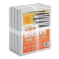 """Member's Mark 1/2"""" Round-Ring View Binder, White (8 pk.) [並行輸入品]"""
