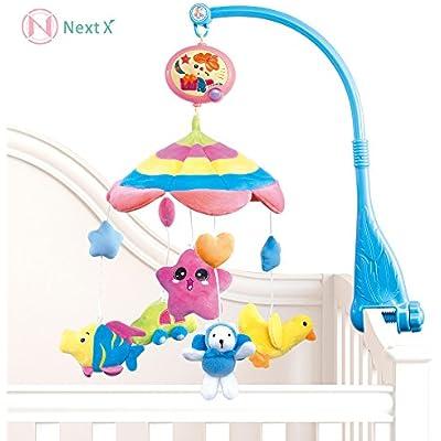 NextX B201 ベッドメリー オルゴール・モビール おやすみメリー音楽回転 幼児・ベビー知育おもちゃ 幼児用寝具メリー (Fru fru)