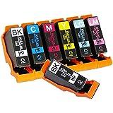 エプソン 用 KUI 互換 ( クマノミ 互換 ) インクカートリッジ6色セット+ブラック1本【7本セット】 インク増量サイズ ISO14001/ISO9001認証工場生産商品 1年保証 インクのチップスオリジナル
