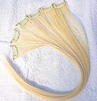 "FidgetGear 人間の毛髪延長の6部分の100%のバージンの毛のRemyの実質クリップ15""20"" ライトブロンド"