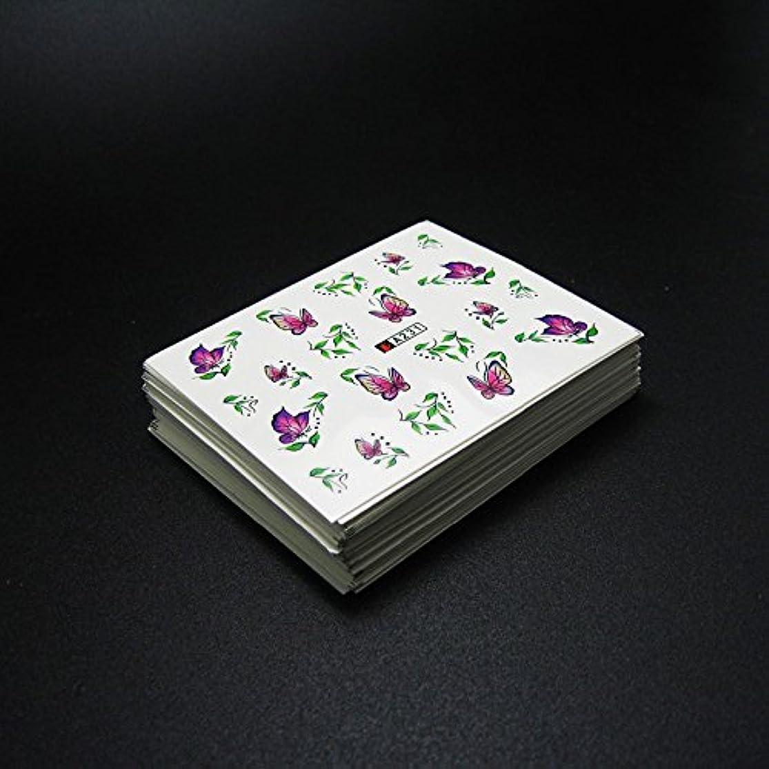 白鳥風刺部族50枚ネイルシールの花混在デザイン水転送ネイルアートステッカーウォーターマークデカールDIYデコレーション美容爪用ツール