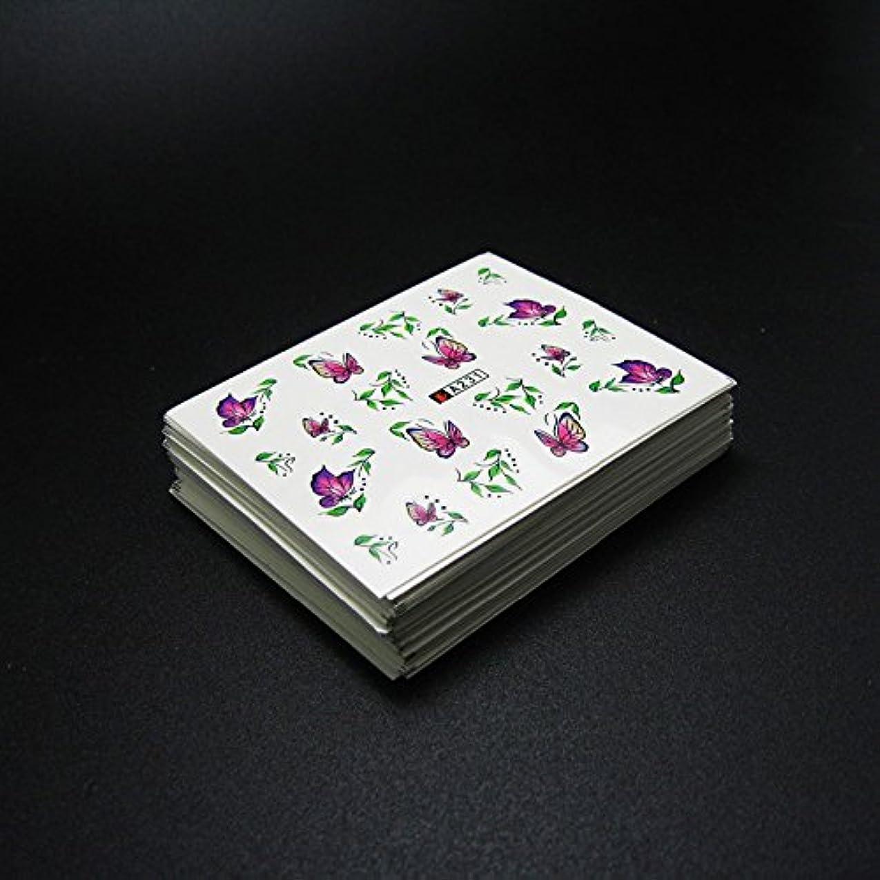 牛音楽家宿泊施設50枚ネイルシールの花混在デザイン水転送ネイルアートステッカーウォーターマークデカールDIYデコレーション美容爪用ツール