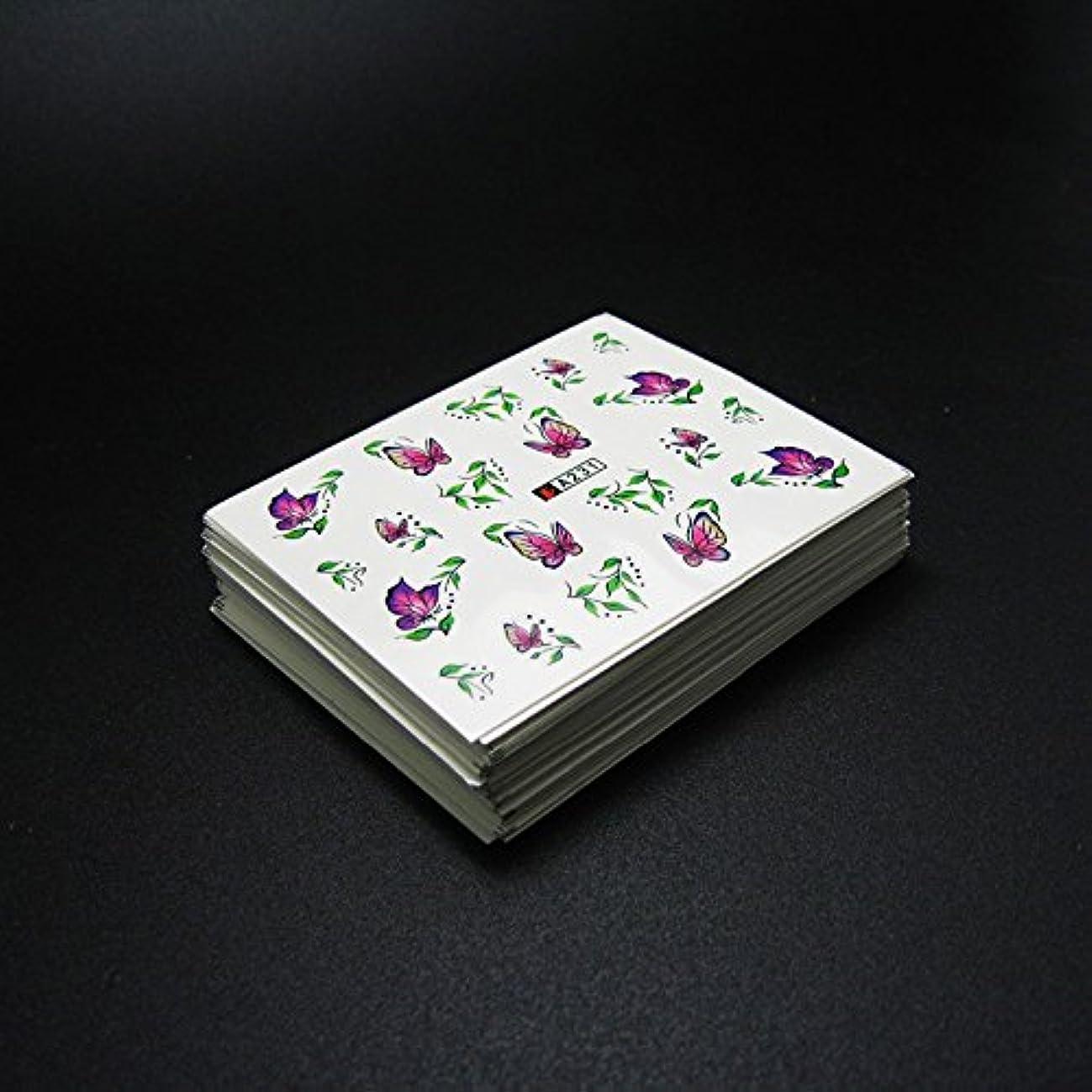 威信アラビア語殺人者50枚ネイルシールの花混在デザイン水転送ネイルアートステッカーウォーターマークデカールDIYデコレーション美容爪用ツール