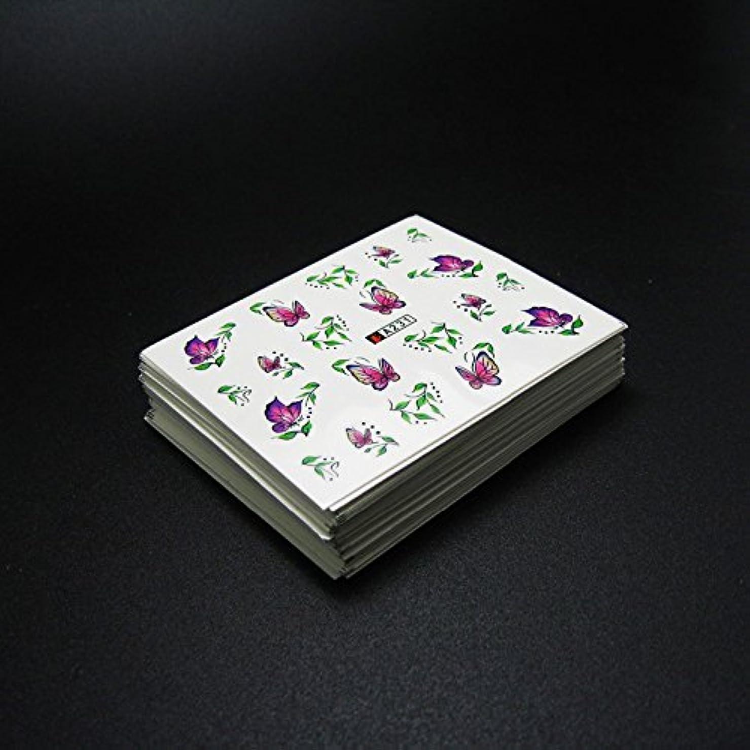 気をつけてミシンハッチ50枚ネイルシールの花混在デザイン水転送ネイルアートステッカーウォーターマークデカールDIYデコレーション美容爪用ツール