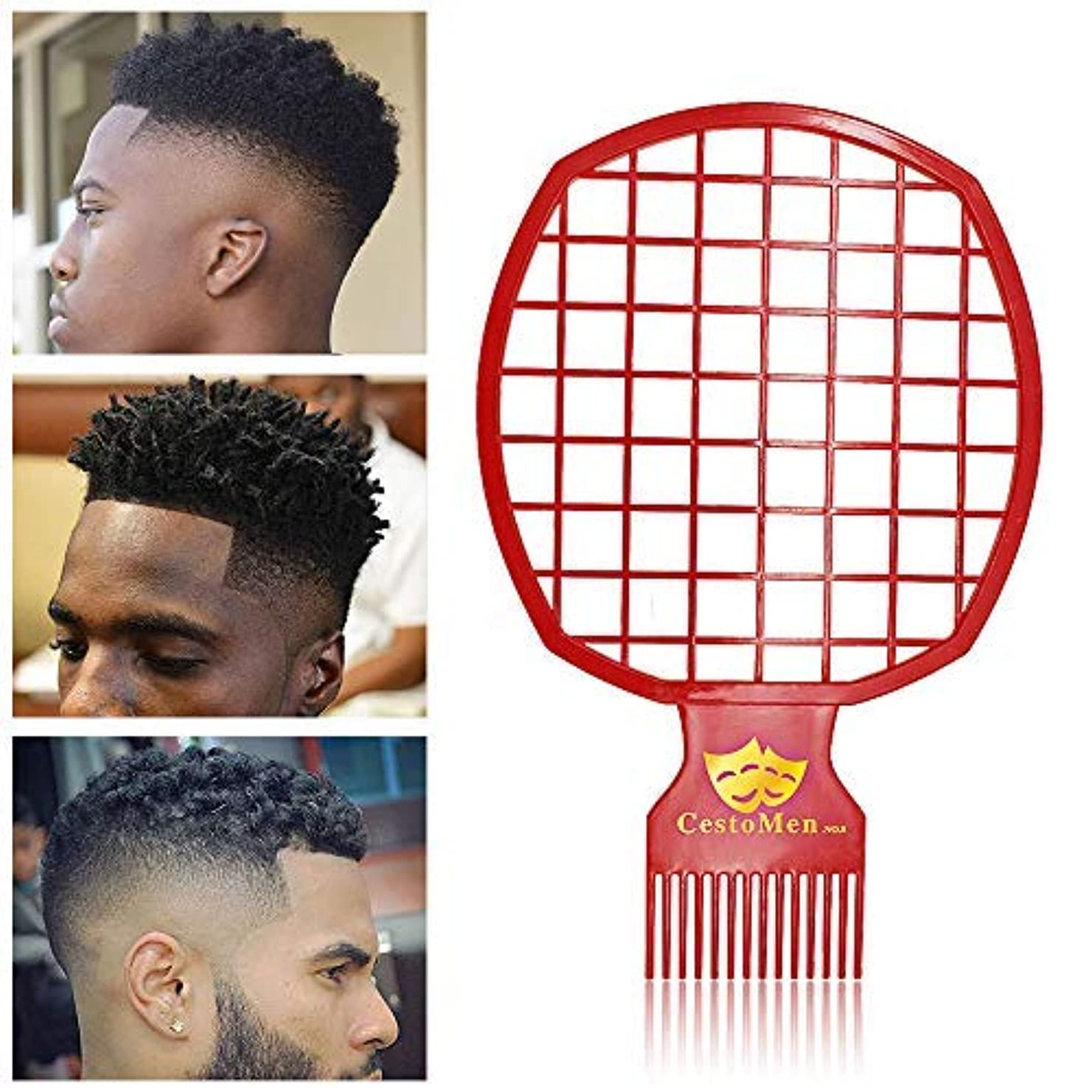 剥ぎ取る必要性出発Afro & Twist Comb for Natural Hair & Dreads, Curl Hair and Weave Dreadlocks, Afro Hair Coil Pick Combs for Men...