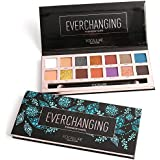 14 Colors Eyeshadow Palette Matte Glitter Shimmer Everchanging Eyeshadow Palette with Brush 14色のマット?グリッター?シマーEverchanging...