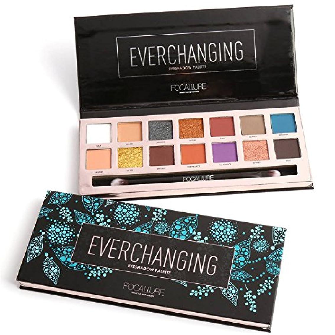 襟フレームワーク不純14 Colors Eyeshadow Palette Matte Glitter Shimmer Everchanging Eyeshadow Palette with Brush 14色のマット?グリッター?シマーEverchanging...
