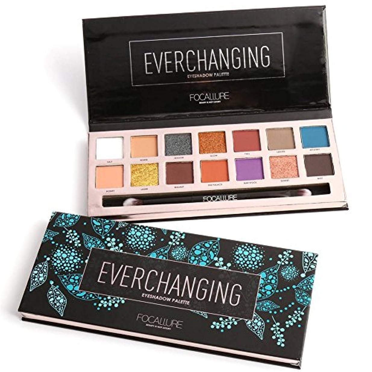 多様体十分ではないたくさんの14 Colors Eyeshadow Palette Matte Glitter Shimmer Everchanging Eyeshadow Palette with Brush 14色のマット?グリッター?シマーEverchanging...