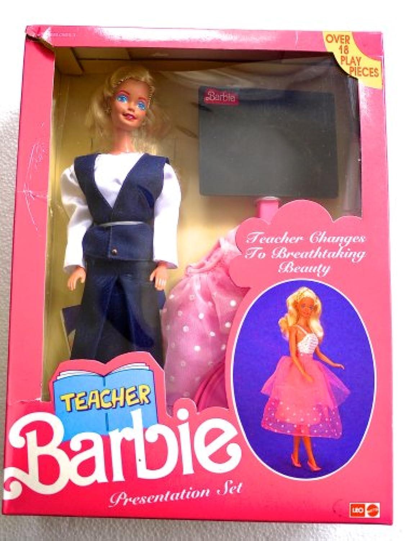 Teacherバービープレゼンテーションセット( Made for SaleのインドでEarly 1990 's ) – Rare