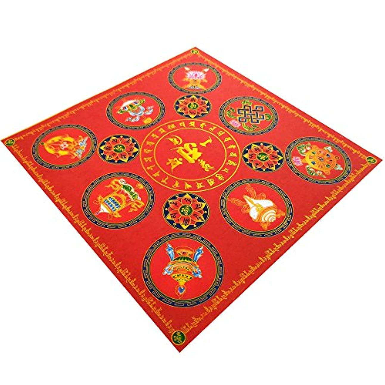 きゅうり泥アスレチックzeestar祖先Incense用紙/ゴーストお金の祖先Praying 7.6インチx 7.6インチ、40個 – 吉祥(Lotus