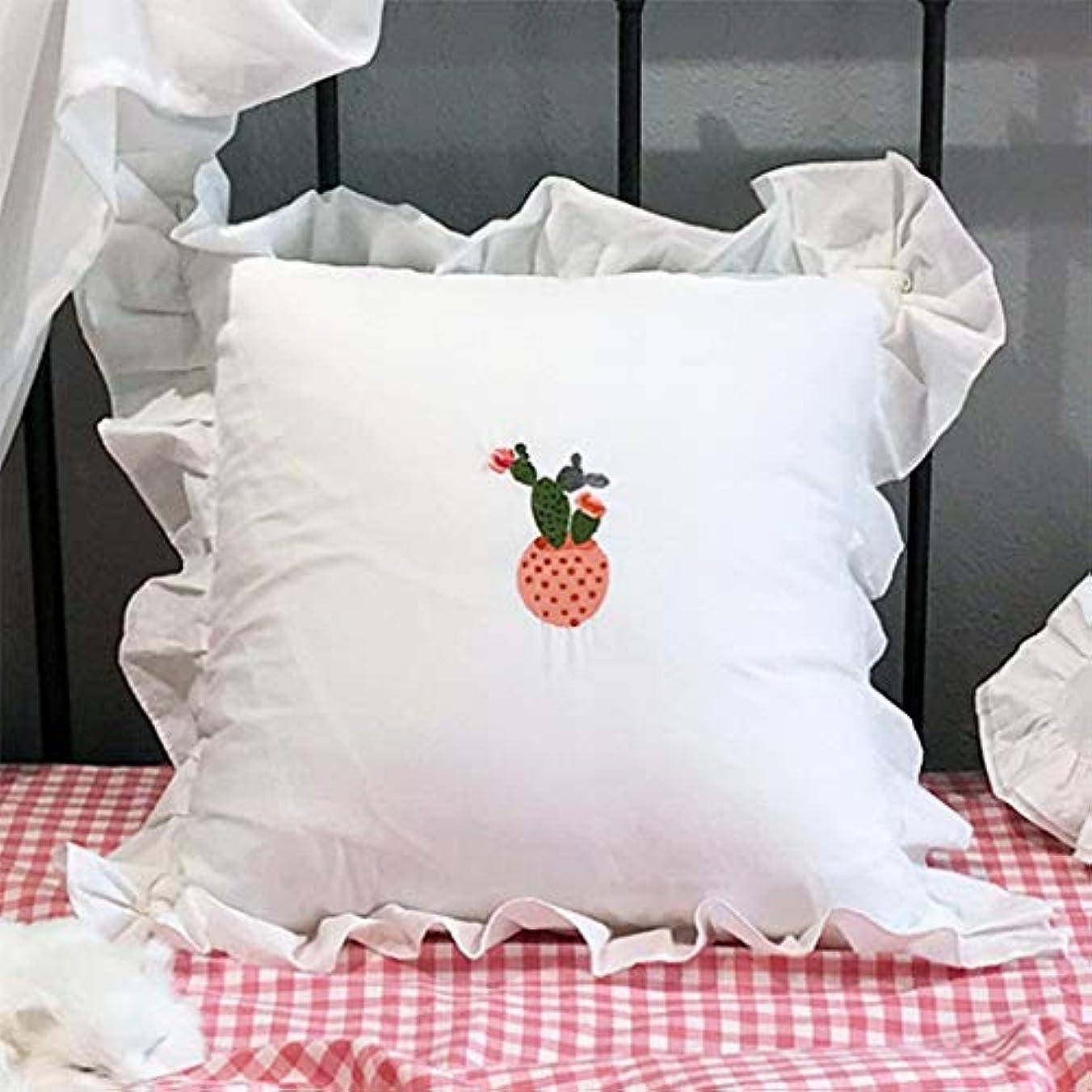 ラテン餌同情LIUXIN 刺繍入り枕、四角い家庭用取り外し可能および洗えるクッション、オプションのマルチパターン45cm×45cm ソファ枕 (パターン : D)