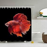 動物ベタシャムの戦いの魚ポリエステル生地のシャワーカーテン、浴室のためのロッジのシャワーカーテン、印刷の装飾的な防水浴室のカーテン、 200X180 CM