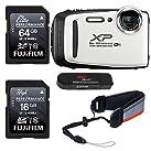 Fujifilm FinePix xp130–ホワイト、Fujifilm 16GB、64GB SDメモリカードとFujifilm XPシリーズFloatストラップバンドル