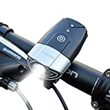 Shenkey(シンキー) 自転車ライト 2000mah 1000 ルーメン 自転車ヘッドライト 自転車前照灯 懐中電灯 高輝度  USB充電式  タッチスイッチ 防水仕様 簡単取り付け コンパクト(シルバー)