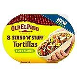 Old El Paso Stand 'N' Stuff Soft Flour Tortillas (8 per pack - 193g) 古いエルパソスタンド'N'のようなもの薄力粉トルティーヤ(パックあたり8-193グラム)