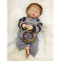PursueベビーハンドメイドソフトボディRebornベビー人形Weighted for Cuddle、Bear Hugs for Daddy、20インチPoseable Lifelike新生児赤ちゃん人形with Curly Hair
