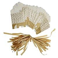 Kesoto 約50個/パック  ゴールド  リボン 結婚式の好意ボックス  キャンディ  ギフト ボックス  ペーパーバッグ