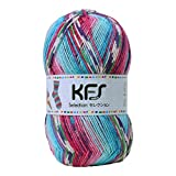 Opal毛糸 セレクション KFS128 アイスクリーム 水色・ピンク系マルチカラー