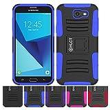 HLCT Galaxy J7 スタンドケース 頑丈 耐衝撃 二層ポリカーボネートとソフトシリコンケース 内蔵キックスタンド付き Samsung Galaxy J7 (2017) S