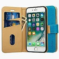 Labato iphone8 ケース iphone7ケース 手帳型 アイフォン7 アイフォン8 ケース 軽量 あいふぉん8ケース人気 PUレザー カード収納 スタンド マグネット式 スマホケース (lbt-IP7-17D42, ブルー)