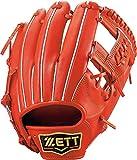 ZETT(ゼット) 硬式野球 グラブ (グローブ) プロステイタス セカンド・ショート用 右投げ用 オレンジ(5600) サイズ:3 日本製 専用グラブ袋付き BPROG640