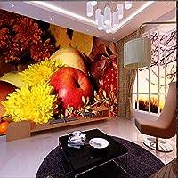 Wxmca フルーツの壁紙壁画の3D写真壁画キッチンテレビソファの背景フルーツショップの3D壁の壁画の3Dシルクの壁紙の装飾-200X140Cm