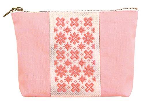 オリムパス製絲 こぎんキット 切り替えポーチ ピンク こぎん52