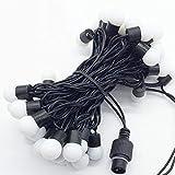 5M 50球 LED小さなボールストリング LEDイルミネーションライト 結婚式、ホームパーティー お誕生日パーティー クリスマスなどに最適 電飾 (電球色)の写真