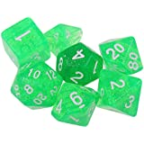 Baosity 7個 多面体 ダイス サイコロ ボードゲーム テーブルゲーム用 全5色 - 緑