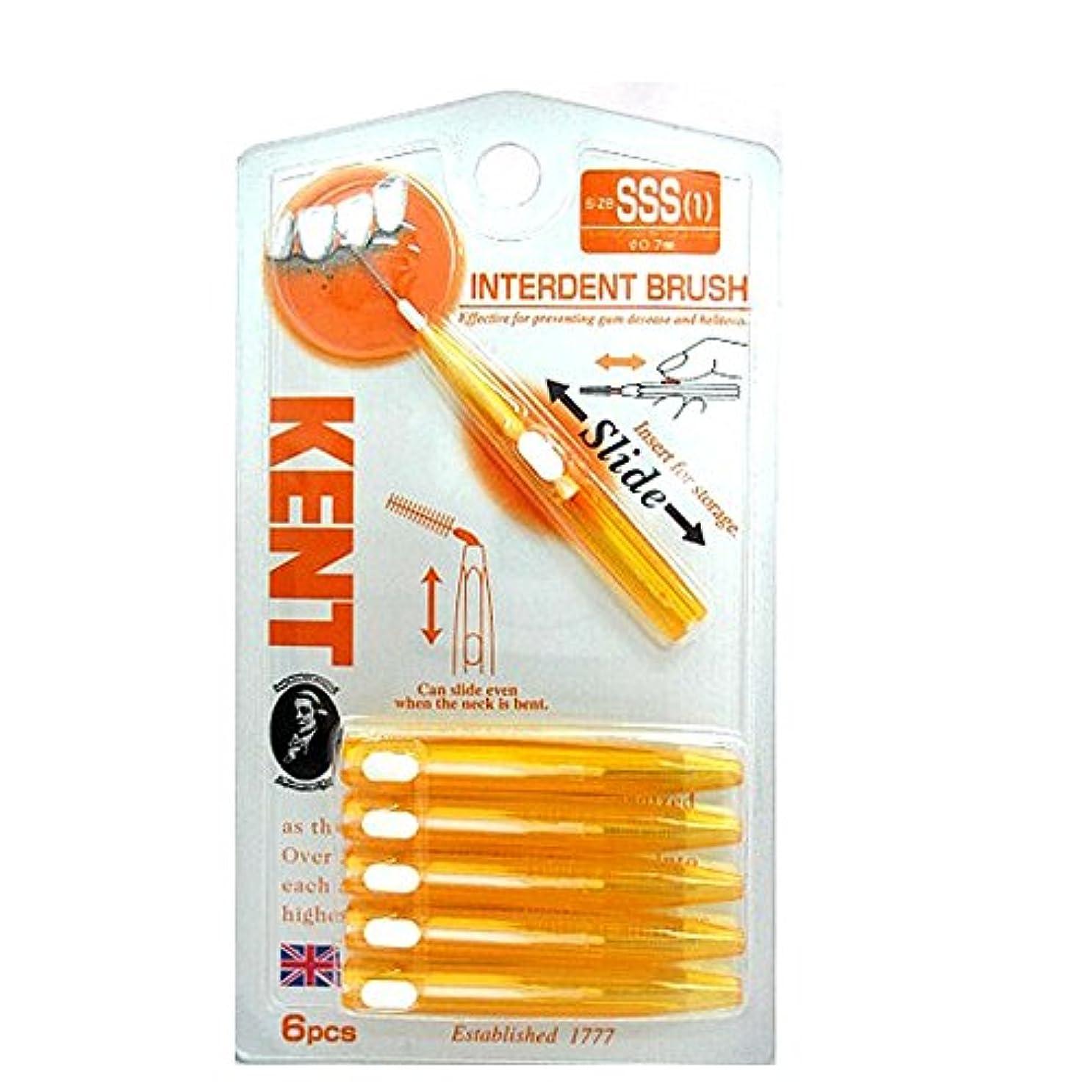 状線床を掃除する永豊堂 KENT歯間ブラシSSS KNT-7010