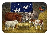 Caroline 's Treasures asa2205jcmt動物at Crib Nativityクリスマスシーンキッチンやバスマット、24by 36インチ、マルチカラー